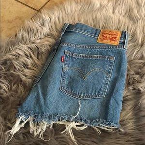 501 high waisted shorts